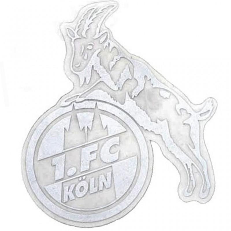 1 Fc Köln Aufkleber Hennes Silbern 8 Cm Autoaufkleber Sticker Plus Lesezeichen I Love Köln New Fancorner