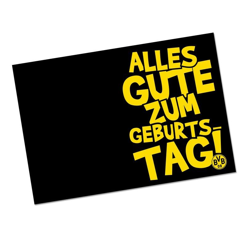 Borussia Dortmund Geburtstagskarte, Karte, Klappkarte BVB 09