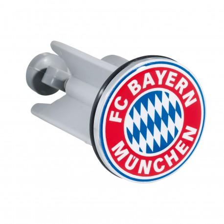 """FC Bayern München Waschbeckenstöpsel, Stöpsel, Stopfen FCB - plus gratis Lesezeichen """"I Love München"""""""