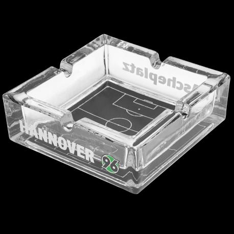 """Hannover 96 Aschenbecher, Ascher Ascheplatz Glas H96 - plus gratis Lesezeichen """"I love München"""""""