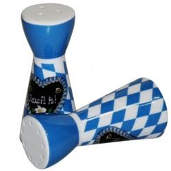 Oktoberfest O'zapft is! Bierkrug, Krug Porzellan Brauns weiß-blau