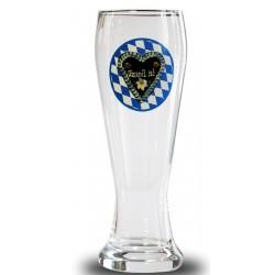 Oktoberfest O'zapft is! Weizenglas, Glas, Bierglas  Brauns weiß-blau 0,5 l