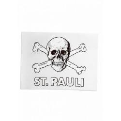 FC St. Pauli Aufkleber, Autoaufkleber, Sticker Totenkopf transparent - Plus gratis Aufkleber Fans gegen Rechts
