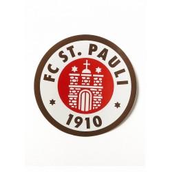 FC St. Pauli Aufkleber, Autoaufkleber, Sticker Logo große farbig - Plus gratis Aufkleber Fans gegen Rechts