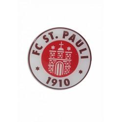 FC St. Pauli Aufkleber, Autoaufkleber, Sticker Logo 3D farbig - Plus gratis Aufkleber Fans gegen Rechts
