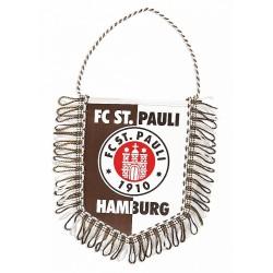 FC St. Pauli Auto Wimpel, Banner, Autobanner, Autowimpel Logo - Plus gratis Aufkleber Fans gegen Rechts