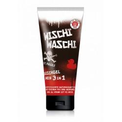FC St. Pauli 3in1 Duschgel Hair & Body & Face Shampoo, Showergel Wischi Waschi - Plus gratis Aufkleber Fans gegen Rechts
