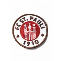 FC St. Pauli  Aufnäher, Patch Logo 5 cm farbig  - Plus gratis Aufkleber Fans gegen Rechts