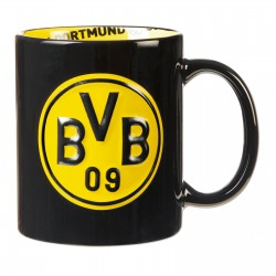 Borussia Dortmund Tasse, Kaffeetasse 3D mit Innendekor BVB 09 - plus gratis Lesezeichen I love Dortmund