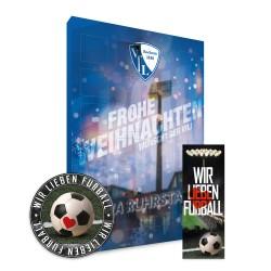 Adventskalender 2018 + gratis Lesezeichen & Aufkleber Wir lieben Fussball
