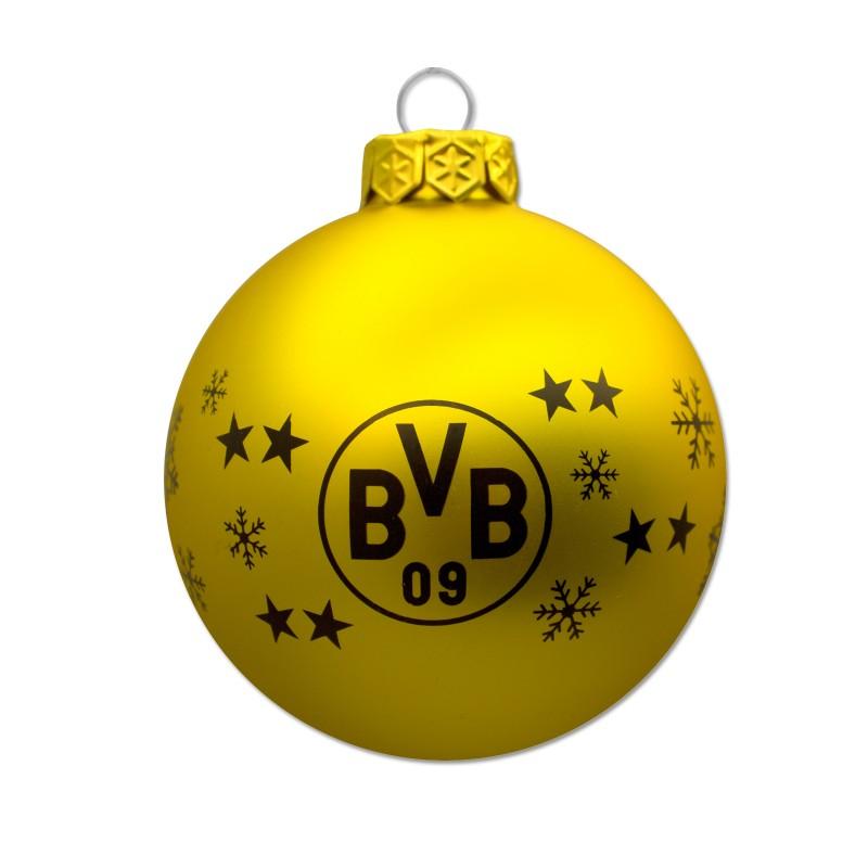 Bvb Weihnachtsbaum.Borussia Dortmund Christbaumkugeln Weihnachtskugeln 4er Set Bvb 09