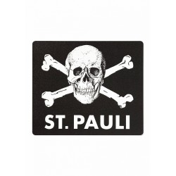 FC St. Pauli Mousepad Totenkopf Mauspad - Plus Aufkleber Fans gegen Rechts