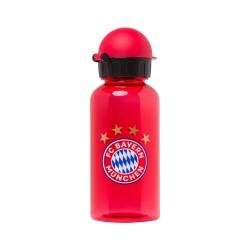 Bayern München Trinkflasche - rot transparent - 0,4 l Flasche, Bottle kompatibel  FCB - plus Lesezeichen I Love München