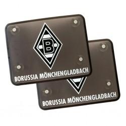 Borussia Mönchengladbach Sonnenblende Logo 2er Set Sichtschutz - plus Lesezeichen I love Mönchengladbach