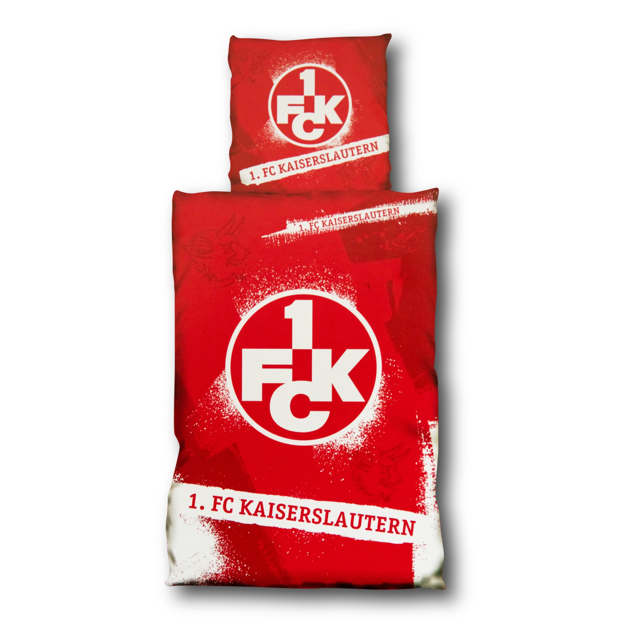 FC K/öln Bettw/äsche Logo 2-teilig - Plus Lesezeichen I Love K/öln 1 Bezug, Kissen