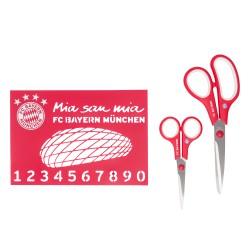 Bayern München Bastel-Set 3-teilig, Scheren und Schablonenset kompatibel FCB - plus Lesezeichen I love München