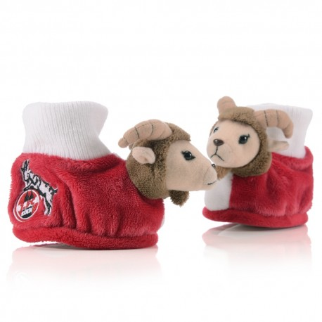 1.FC Köln Baby Schühchen Hennes, Baby Shoes plus Lesezeichen I love Köln