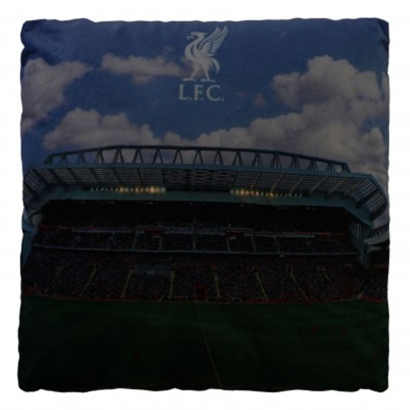 Zierkissen Plus Aufkleber Wir lieben Fu/ßball Dekokissen LFC FC Liverpool Kissen LED Anfield Road Stadion