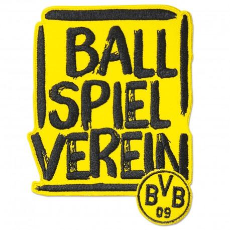 Borussia Dortmund Stickabzeichen Ballspielverein, Aufnäher BVB plus Lesezeichen I love Dortmund