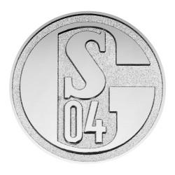 FC Schalke 04 Chrome-Logo 3D Autoaufkleber S04 plus Lesezeichen I love Gelsenkirchen