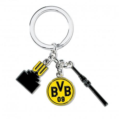 Borussia Dortmund Schlüsselanhänger Charms, Anhänger BVB - plus Lesezeichen I love Dortmund
