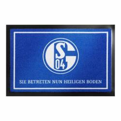 FC Schalke 04 Fußmatte -Heiliger Boden- Matte, Fußabtreter S04 - plus Lesezeichen I love Gelsenkirchen