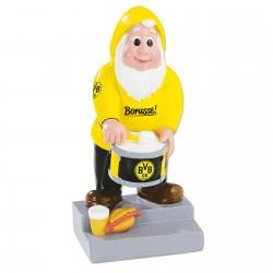 Borussia Dortmund Gartenzwerg Trommler, Zwerg, Gnom BVB 09 - plus Lesezeichen I love Dortmund
