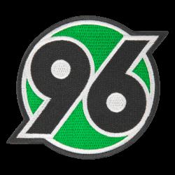 Hannover 96 Aufnäher 6x6 cm, Patch, Aufbügler klein Logo  H96 - plus Lesezeichen I love Hannover