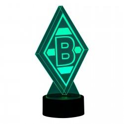 Borussia Mönchengladbach LED Lampe Raute, Leucht-Logo BMG - plus Lesezeichen I love Mönchengladbach