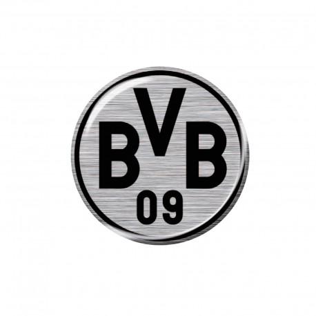 Borussia Dortmund 3d Autoaufkleber Logo 6 Cm Silberschwarz Aufkleber Sticker Bvb 09 Plus Lesezeichen I Love Dortmund New Fancorner