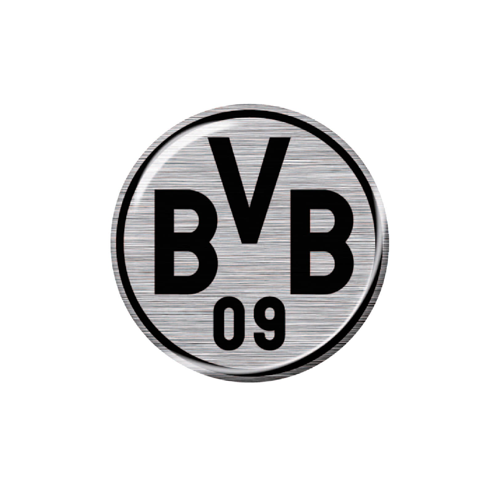 Borussia Dortmund 3D Autoaufkleber Logo 6 Cm - Silber/schwarz