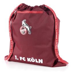 1. FC Köln Gymbag bordeaux, Turnbeutel, Sportbeutel - plus Lesezeichen I love Köln