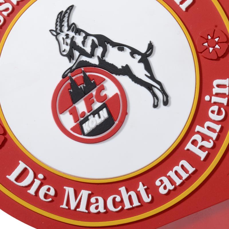 FC K/öln Hennes Effzeeh I Zuckert/üte aus Stoff I Grau Gl/ückspilz I Schult/üte mit Namen personalisiert I 1 Schult/üte