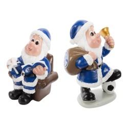 FC Schalke 04 Weihnachtsfigur 2er-Set, Weihnachtsmänner, Wichtel S04 - plus Lesezeichen I love Gelsenkirchen