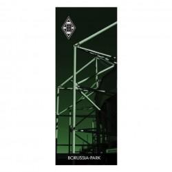 Borussia Mönchengladbach Zimmerfahne, Fahne Borussia-Park 45 x 116 cm  - plus Lesezeichen I love Mönchengladbach