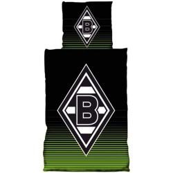 Borussia Mönchengladbach Bettwäsche Glow in the dark, nachtleuchtend, 2-teilig BMG - plus Lesezeichen I love Mönchengladbach