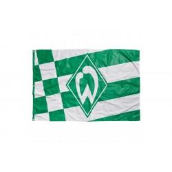 Werder Bremen Hissfahne Raute, Fahne 180 x 120 cm - plus Lesezeichen I love Bremen