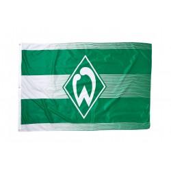 Werder Bremen Hissfahne Raute Streifen, Fahne 180 x 120 cm - plus Lesezeichen I love Bremen