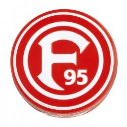 Fortuna Düsseldorf Bonbons mit Kirsch- und Eisbonbongeschmack, Dosenbonbons F95- plus Lesezeichen Wir lieben Fußball