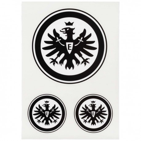Eintracht Frankfurt Aufkleberkarte 3er Set Logo Schwarz E Aufkleber Sticker Sge Plus Lesezeichen I Love Frankfurt New Fancorner