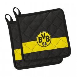 Borussia Dortmund 2er Set Topflappen BVB plus Lesezeichen I love Dortmund