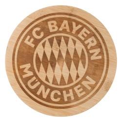 FC Bayern München Brotzeitbrett rund, Schneidebrett Bambus FCB - Plus Lesezeichen I Love München