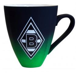 Borussia Mönchengladbach Tasse Rubber, Becher, Kaffeebecher, Kaffeepott BMG plus Lesezeichen I love Mönchengladbach