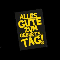 """Borussia Geburtstagskarte - plus gratis Lesezeichen """"I love Dortmund"""""""