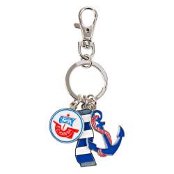 FC Hansa Rostock Schlüsselanhänger Charms, Anhänger Logo Anker Schal, keychains FCH plus Lesezeichen Wir lieben Fußball