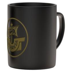 FC Hansa Rostock Tasse Relief, Kaffeetasse Prägung, coffee pot FCH plus Lesezeichen Wir lieben Fußball
