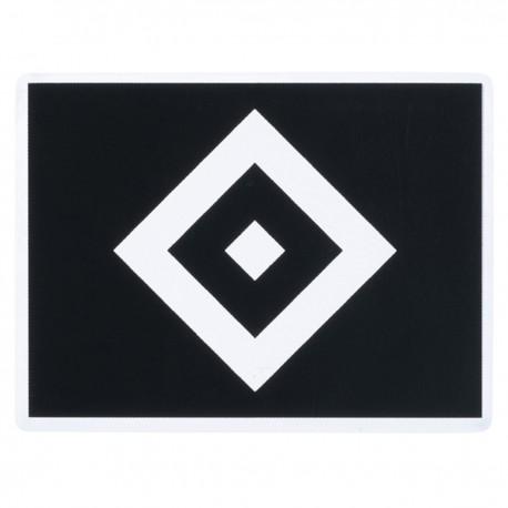 Hamburger Sportverein Aufkleber Raute schwarz, Sticker transparent, Autoaufkleber HSV - plus Lesezeichen I love Hamburg