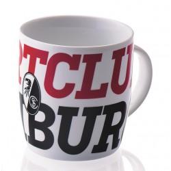 SC Freiburg Tasse Schriftzug, Kaffeetasse, Kaffeepott, Mug, Becher - plus Lesezeichen Wir lieben Fußball
