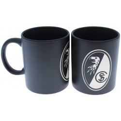 SC Freiburg Tasse Prägung, Kaffeetasse, Kaffeepott, Mug, Becher - plus Lesezeichen Wir lieben Fußball