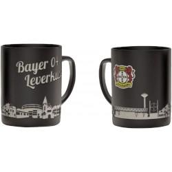 Bayer 04 Leverkusen Tasse Skyline, Kaffeetasse, Kaffeepot, Mug plus Lesezeichen Wir lieben Fußball